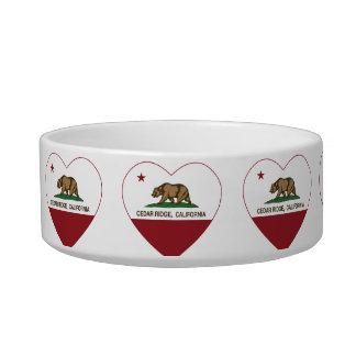 california flag cedar ridge heart pet food bowl