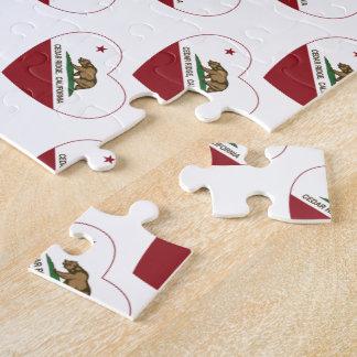 california flag cedar ridge heart jigsaw puzzles