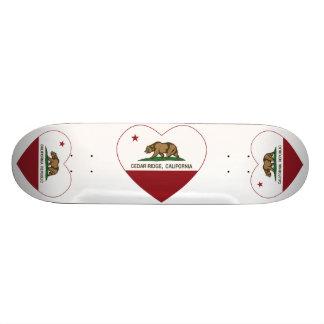 california flag cedar ridge heart skate board