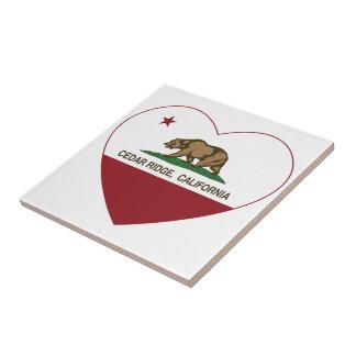 california flag cedar ridge heart ceramic tiles