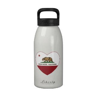 california flag cedar ridge heart drinking bottles