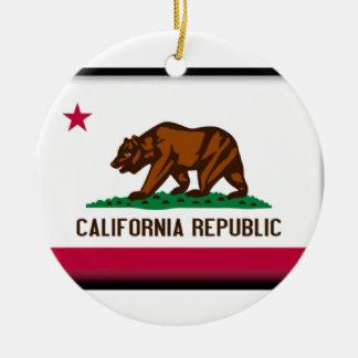 California Flag Ceramic Ornament
