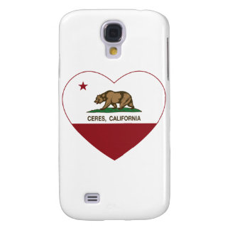 california flag ceres heart samsung galaxy s4 covers