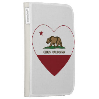 california flag ceres heart kindle covers