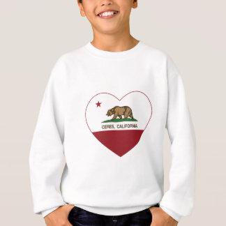 california flag ceres heart sweatshirt