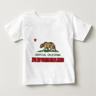 california flag cerritos distressed baby T-Shirt