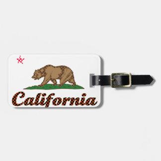 California Flag Checkered-Out Bag Tag