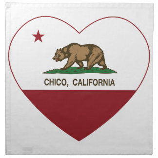 california flag chico heart printed napkin