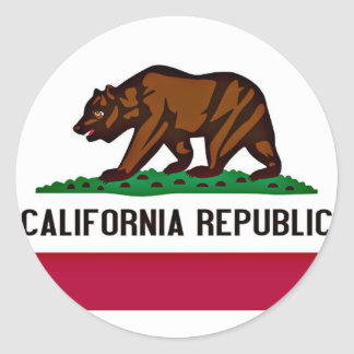 California Flag Classic Round Sticker