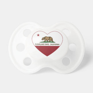 california flag clearlake oaks heart pacifier