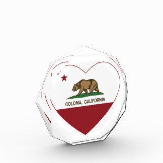 california flag coloma heart award