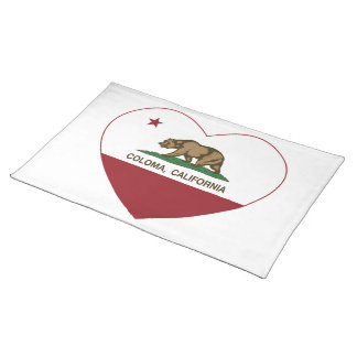california flag coloma heart place mats