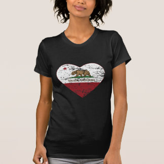 california flag colusa heart distressed T-Shirt
