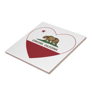 california flag concord heart ceramic tile