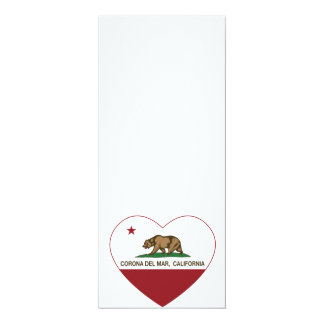 california flag corona del mar heart card
