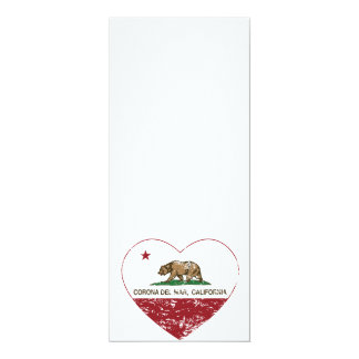 california flag corona del mar heart distressed card
