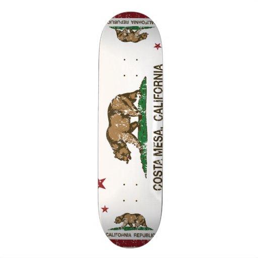 california flag costa mesa distressed skateboard
