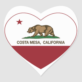 california flag costa mesa heart heart sticker