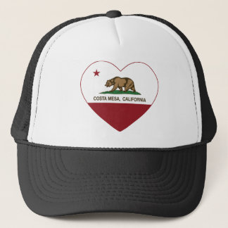 california flag costa mesa heart trucker hat