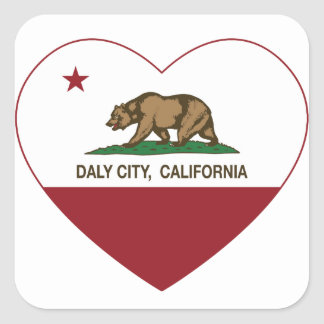 california flag daly city heart square sticker