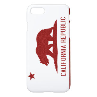 California Flag Damask Pattern iPhone 7 Case