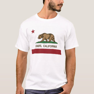 california flag davis T-Shirt