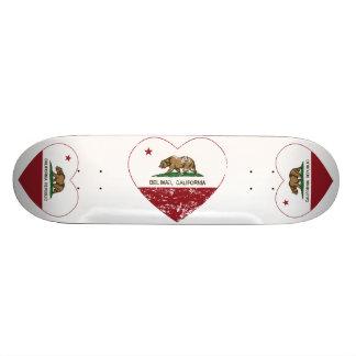 california flag del mar heart distressed custom skateboard