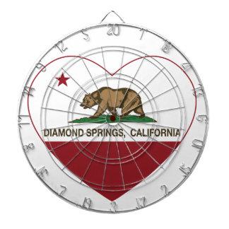 california flag diamond springs heart dartboard