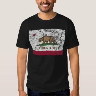 California Flag Distressed Tee Shirt