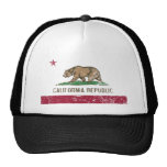 California Flag Distressed Trucker Hat