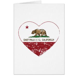 california flag east palo alto heart distressed card