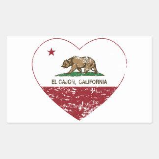 california flag el cajon heart distressed rectangular sticker