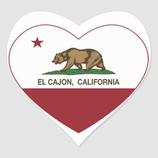 california flag el cajon heart heart sticker