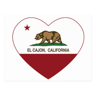 california flag el cajon heart postcard