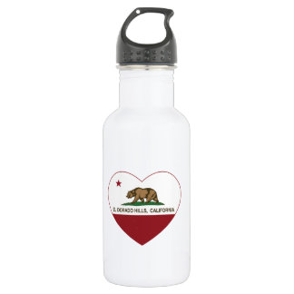 california flag el dorado hills heart water bottle