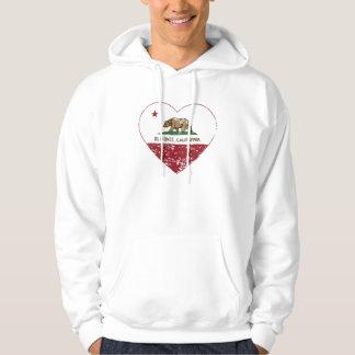california flag el monte heart distressed hooded sweatshirt