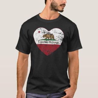 california flag el segundo heart distressed T-Shirt