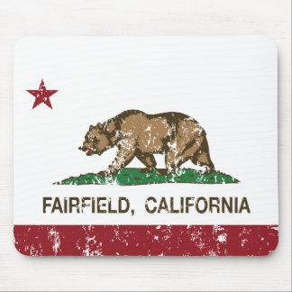 california flag fairfield distressed mouse pad