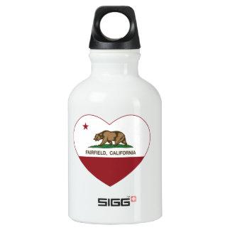 california flag fairfield heart aluminum water bottle
