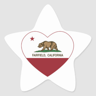 california flag fairfield heart star sticker