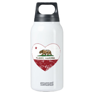 california flag fillmore heart distressed 10 oz insulated SIGG thermos water bottle