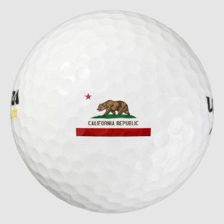 CALIFORNIA FLAG Flag Pack Of Golf Balls