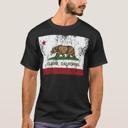 california flag folsom distressed T-Shirt