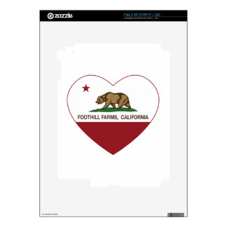 california flag foothill farms heart decals for iPad 2