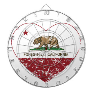 california flag foresthill heart distressed dart board
