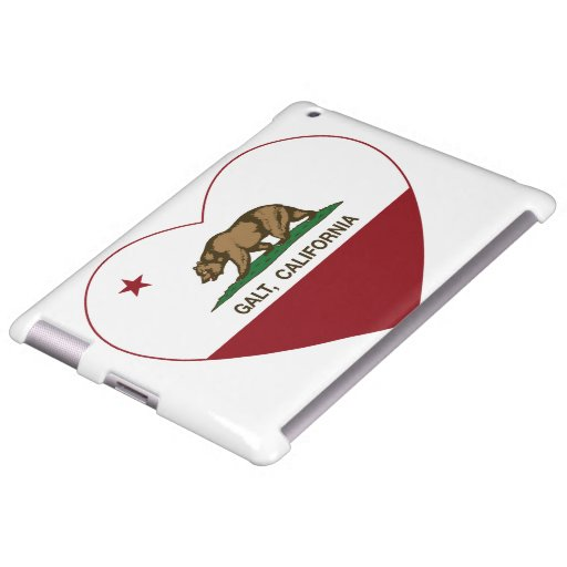 california flag galt heart
