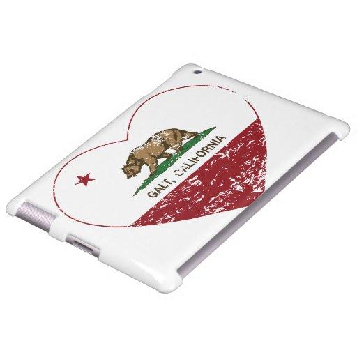 california flag galt heart distressed
