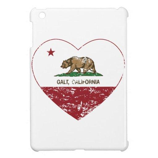 california flag galt heart distressed iPad mini case