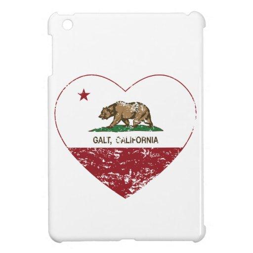 california flag galt heart distressed cover for the iPad mini