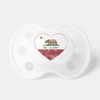 california flag galt heart distressed baby pacifier